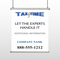 Tax Time 153 Hanging Banner