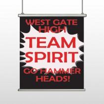Team 43 Hanging Banner