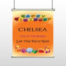 Birthday Balloons 185 Hanging Banner