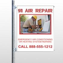 AC Repair 251 Pole Banner