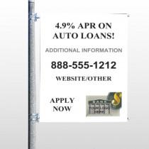Auto Loan 155 Pole Banner