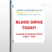 Blood Drive 330 Pole Banner