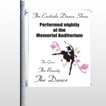 Ballet Dance 517 Pole Banner
