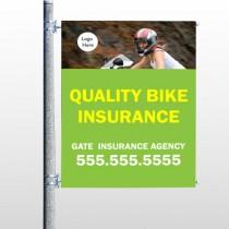 Bike Insurance 110 Pole Banner