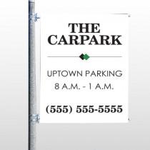 Car Park 122 Pole Banner