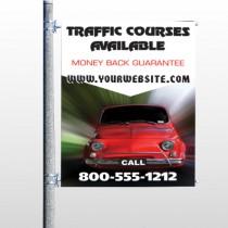 Car Traffic 153 Pole Banner