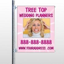 Crazy Wedding 411 Pole Banner