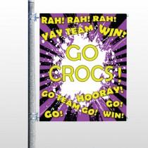 Crocs 54 Pole Banner