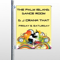 DJ Crank Night 369 Pole Banner