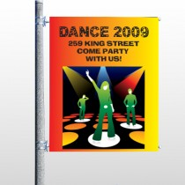 Dance Disco 518 Pole Banner