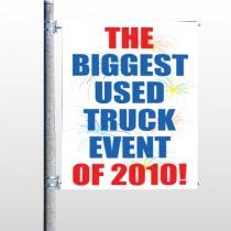 Fireworks 118 Pole Banner