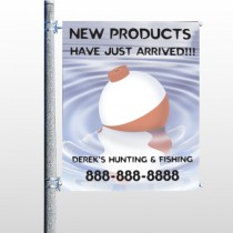 Fishing Bobber 410 pole Banner