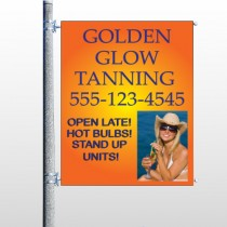 Golden Glow 491 Pole Banner