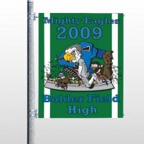 Green 50 Pole Banner