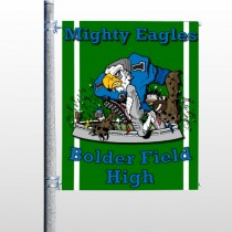 Green 56 Pole Banner