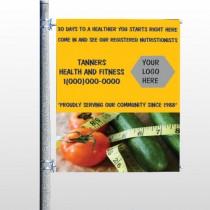 Healthy Tomato 404 Pole Banner