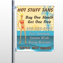 Hot Beach Tan 299 Pole Banner