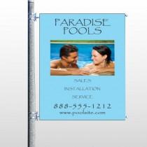 Paradise Pool 529 Pole Banner