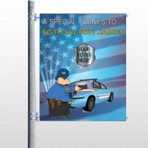 Police Thanks 429 Pole Banner