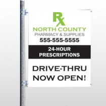 RX NorthCounty 105 Pole Banner