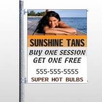 Sunshine Tans 297 Pole Banner