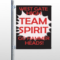 Team 43 Pole Banner