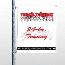 Towing 126 Pole Banner