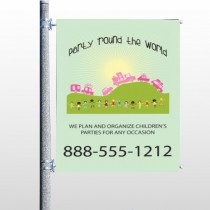 World Party Plan 520 Pole Banner