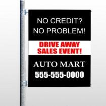 Auto Mart 114 Pole Banner