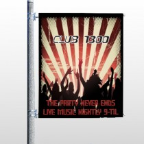 Night Club 523 Pole Banner