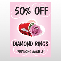 Pink Rose-Hidden Ring 399 Floor Decal