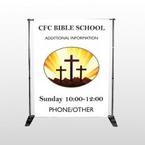 3 Crosses 149 Pocket Banner Stand