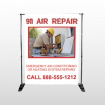 AC Repair 251 Pocket Banner Stand