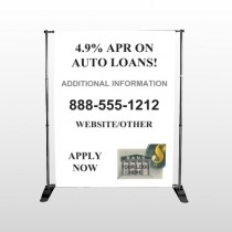 Auto Loan 155 Pocket Banner Stand
