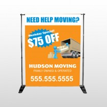 Blue Moving 294 Pocket Banner Stand