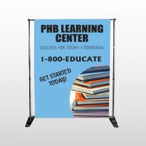Book Learning 156 Pocket Banner Stand