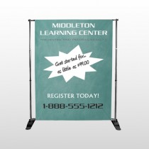 Chalk Board 157 Pocket Banner Stand