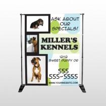 Dog Kennels 300 Pocket Banner Stand
