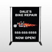 Harley Flame 108 Pocket Banner Stand