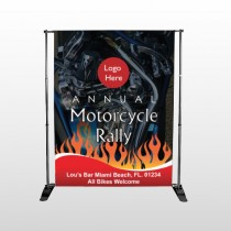Motorcycle Flame 322 Pocket Banner Stand