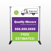 Moving Truck 293 Pocket Banner Stand