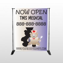 Nurse Bear 504 Pocket Banner Stand