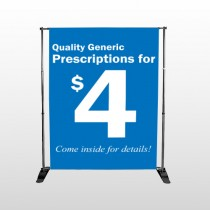 Pharmacy 102 Pocket Banner Stand
