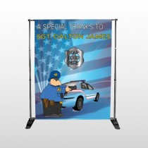 Police Thanks 429 Pocket Banner Stand