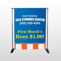 Storage Building 120 Pocket Banner Stand