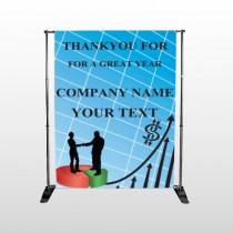 Pie Graph Arrows 05 Pocket Banner Stand