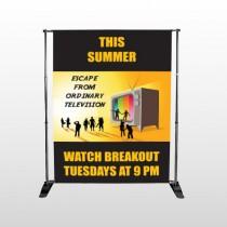 Television 525 Pocket Banner Stand