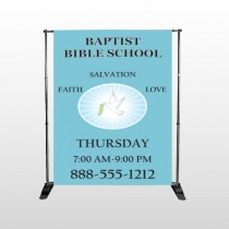 Bible Dove 162 Pocket Banner Stand