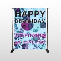 Birthday Dots 16 Pocket Banner Stand