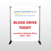 Blood Drive 330 Pocket Banner Stand